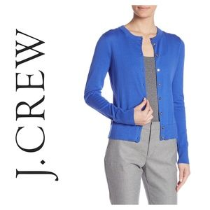 J Crew Front Button Cardigan Blue Small